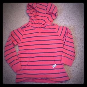 CARTERS: SIZE 4T RED/GRAY HOODIE BOY